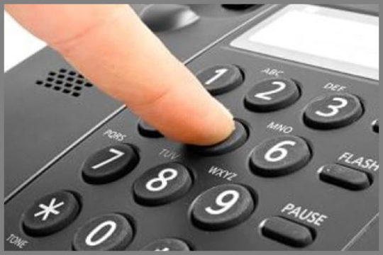 Dialing a business Telephone System